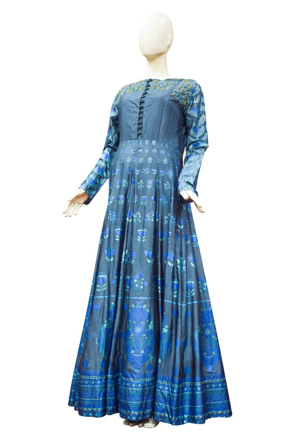 Blue Color Kurti Picture
